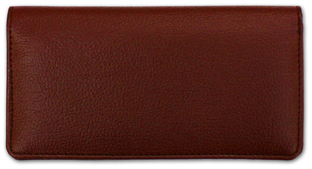 Burgundy Textured Leather Checkbook Cover